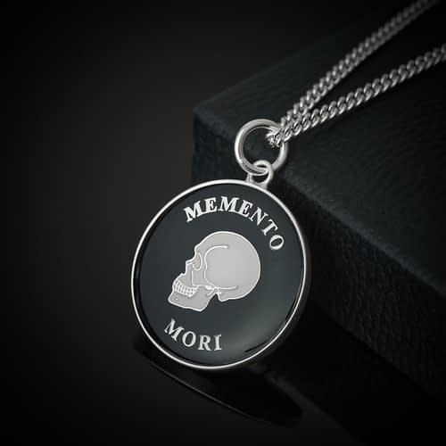 stoic-memento-mori-silver-and-black-pendant-necklace-stoicism