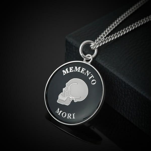 stoic-memento-mori-silver-and-black-pendant-necklace-stoicism