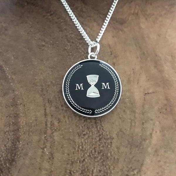 stoic-memento-mori-necklace-black-and-silver-enamelled-2