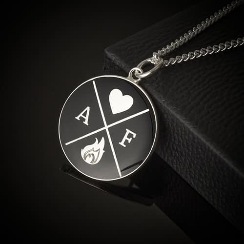 amor-fati-logo-silver-plated-and-enamelled-in-black-pendant-necklace